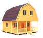 Срубы домов с верандой иконка