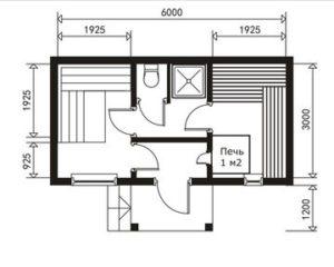 Сруб бани 3х6 план(2)