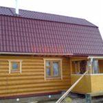 Сруб бани 4 на 6 с ломанной мансардной крышей(2)