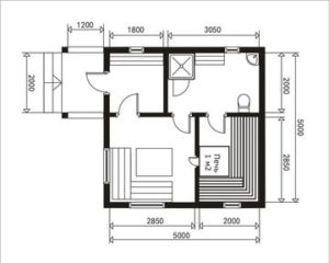 Сруб бани 5 на 5 метров план