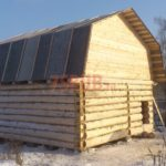 Сруб бани 5 на 6 с ломаной мансардной крышей(2)