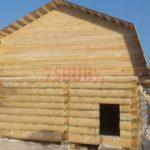 Сруб бани 5 на 6 с ломаной мансардной крышей(3)