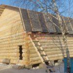 Сруб бани 5 на 6 с ломаной мансардной крышей(4)