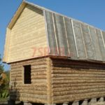 Сруб дома 4 на 6 с ломаной крышей(2)