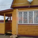 Сруб дома 4 на 6 с ломаной крышей(3)