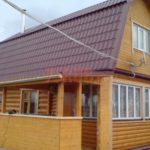 Сруб бани 4 на 6 с ломанной мансардной крышей(4)