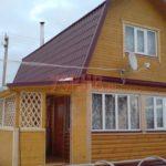 Сруб дома 4 на 6 с ломаной крышей(4)