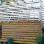 Сруб бани 3 на 6 метров с двускатной мансардной крышей(3)