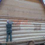 Сруб дома 5 на 6 метров с ломаной крышей(2)