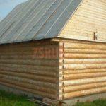 Сруб бани 5 на 5 с двускатной мансардной крышей(2)