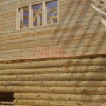 Сруб бани 6 на 6 с ломаной мансардной крышей(2)