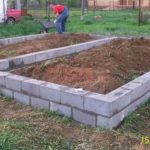 Блочный фундамент для дома 6 на 6 с перегородкой из бревна