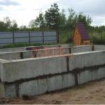 Блочный фундамент жилого дома из бревна