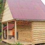 Сруб дома 3 на 5 метров с верандой(2)