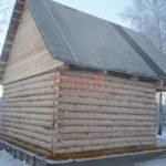 Сруб дома 4 на 5 метров с верандой(3)
