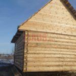 Сруб дома 5 на 5 метров с верандой(3)