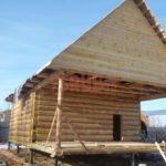 Сруб дома 5 на 6 метров с верандой(8)