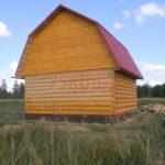 Сруб дома 6 на 6 с ломаной крышей(2)