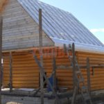 Сруб дома 4 на 6 метров с верандой(4)