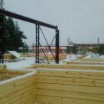 Изготовление сруба дома рубка в лапу
