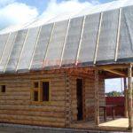 Ленточный фундамент частного дома с верандой