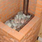Печь в баню каменка вид сверху