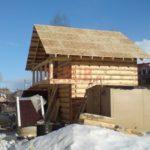 Реализованный сруб дома 5 на 5 с балконом