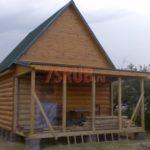 Сруб дома 5 на 6 метров с верандой