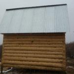 Сруб дома 5 на 6 метров с ломаной крышей(3)