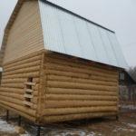 Сруб дома 5 на 6 метров с ломаной крышей(4)