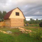 Сруб дома 5 на 5 с ломаной крышей(2)