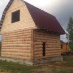 Сруб дома 5 на 5 с ломаной крышей(3)