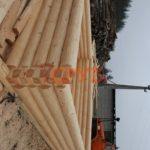 Сруб в процессе изготовления на стройплощадке