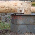 Столбчатый фундамент под сруб из бревна