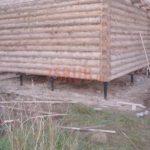 Свайный фундамент под сруб дома 4 на 6