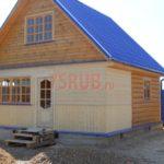Сруб дома 4 на 6 метров с верандой