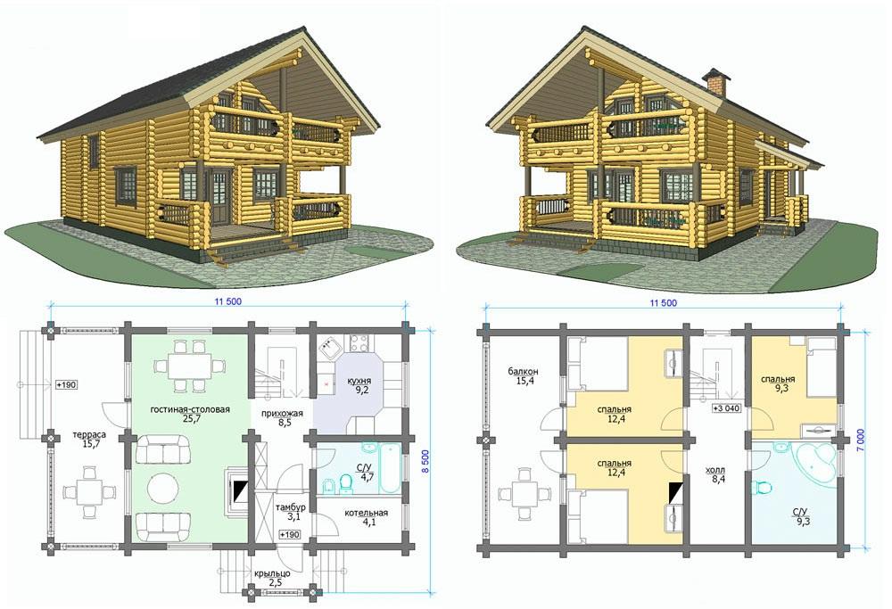 проект срубового дома